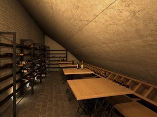 Wine bar under the Charles bridge